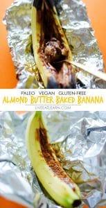 Almond Butter Baked Bananas