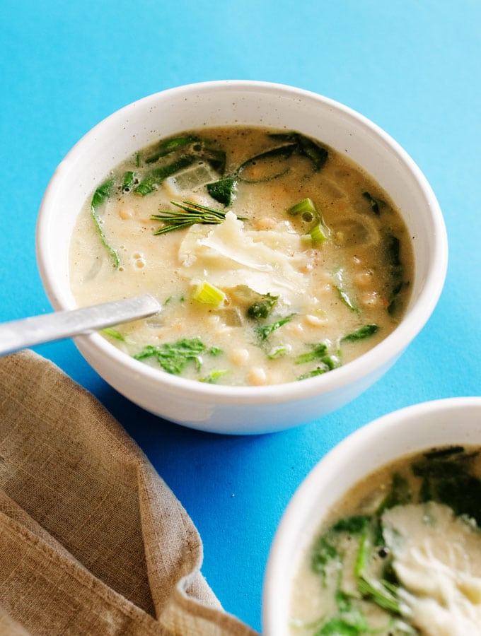 8. Creamy Vegan White Bean Soup