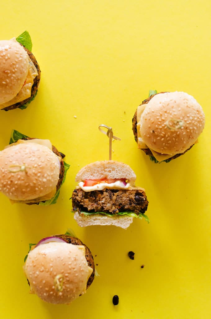 Mashed Potato Black Bean Burgers