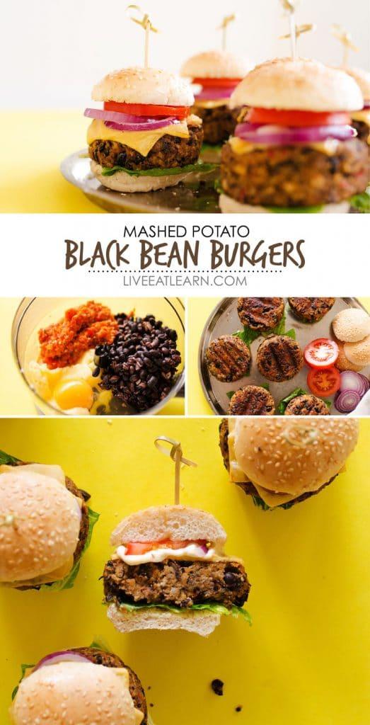 Mashed Potato Black Bean Burgers