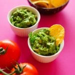 This Hidden Spinach Healthy Guacamole tastes like the homemade guacamole you know and love, but with the addition of vitamin-packed, vibrantly green spinach! Serve it as a chip dip, slather it onto tacos, or use it as a healthy toast topper.