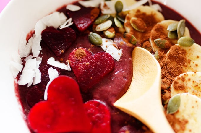 Red Velvet Beet Smoothie Bowl