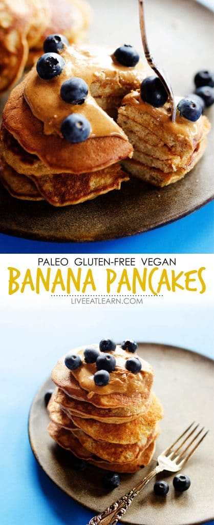 You know that whole banana + eggs = pancakes thing? These Paleo Banana Pancakes take it a step further, making them fluffier, tastier, and pancake-ier!