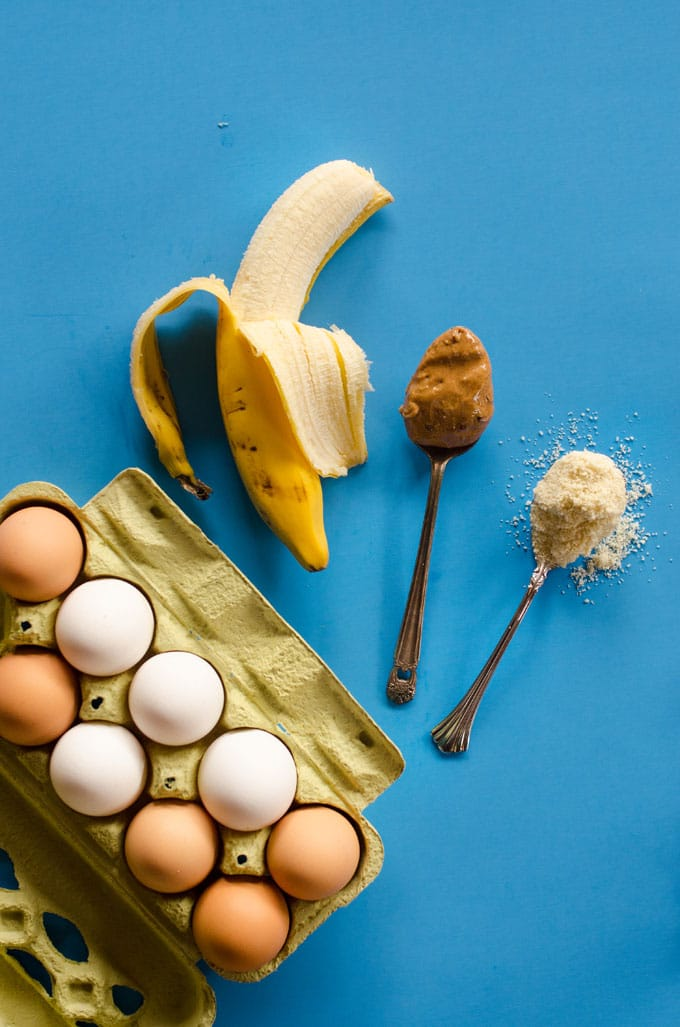 You know that whole banana + eggs = pancakes phase from a few months ago? Well these Paleo Banana Pancakes take those pancakes a step further, keeping the same awesome nutritional profile but making them fluffier, tastier, and pancake-ier!