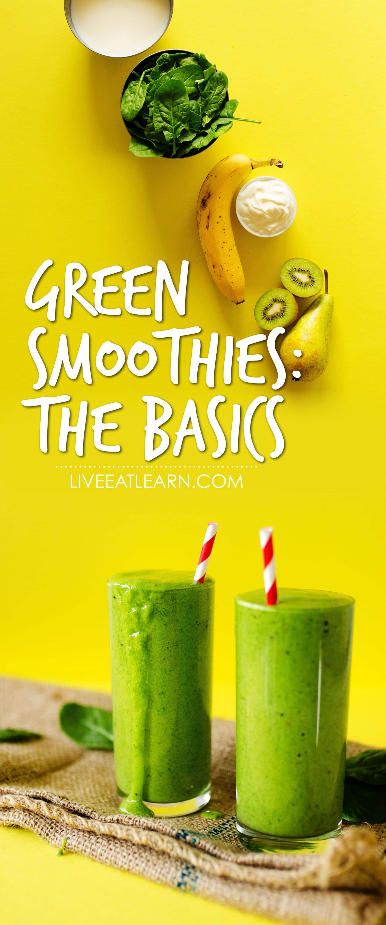 Want to try green smoothies but don't know where to start? This simple guide to the perfect healthy green smoothie recipe takes you from zero to deliciously green in just 5 minutes! Perfect as an on-the-go vegan breakfast, a healthy snack, or an energizing healthy drink. #greensmoothie #smoothies #smoothierecipes