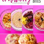 These Cranberry Bliss No Bake Energy Bites can be made in just 5 minutes and with all easy to find, natural ingredients. Sweet, zingy, and so addictive!