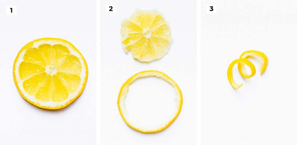 How to cut lemon garnish for a cocktail