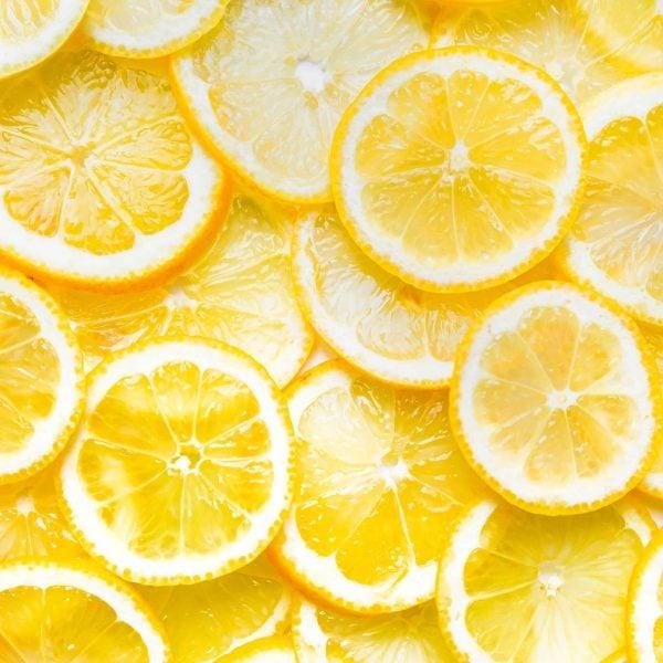 Close up of lemon slices