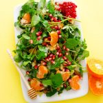 This Citrus Watercress Salad is a simple, summery combination of clementines, pomegranate, and leafy greens, tossed in a cinnamon yogurt dressing.