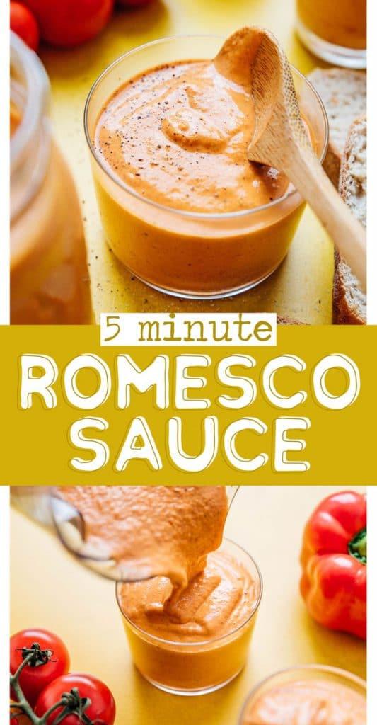Romesco sauce recipe in a jar