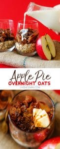 These Apple Pie Overnight Oats are a cross between your grandma's famous apple pie and the millennial generation's inclination towards being on the move 24/7.