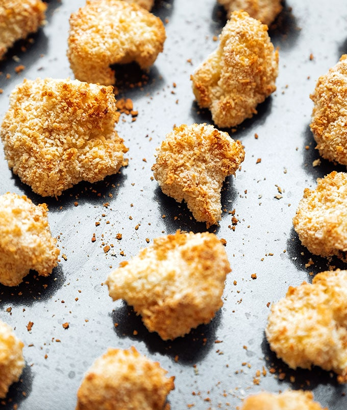 Baked cauliflower with crispy panko breading