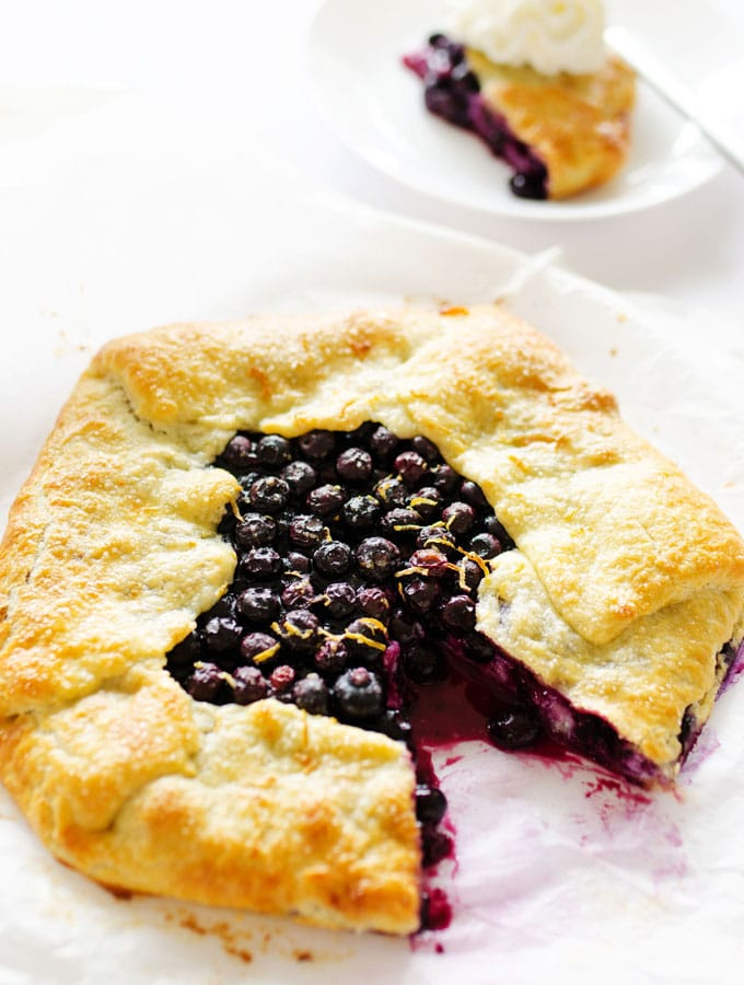This Ricotta Blueberry Galette recipe is a simple, foolproof pie that's rustic yet gorgeous, while also simple to make and delicious!