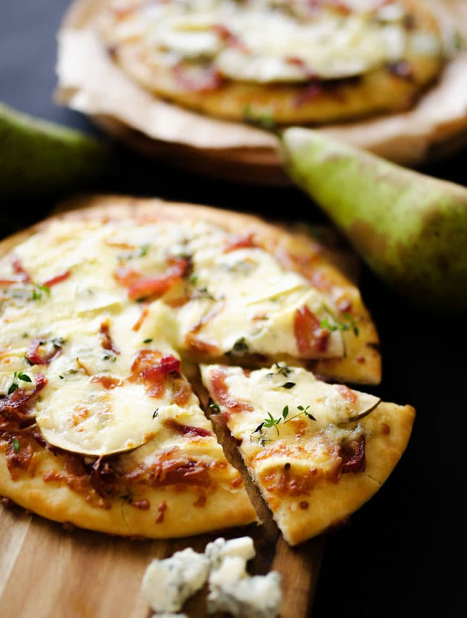 5. Gorgonzola Pear Pizza