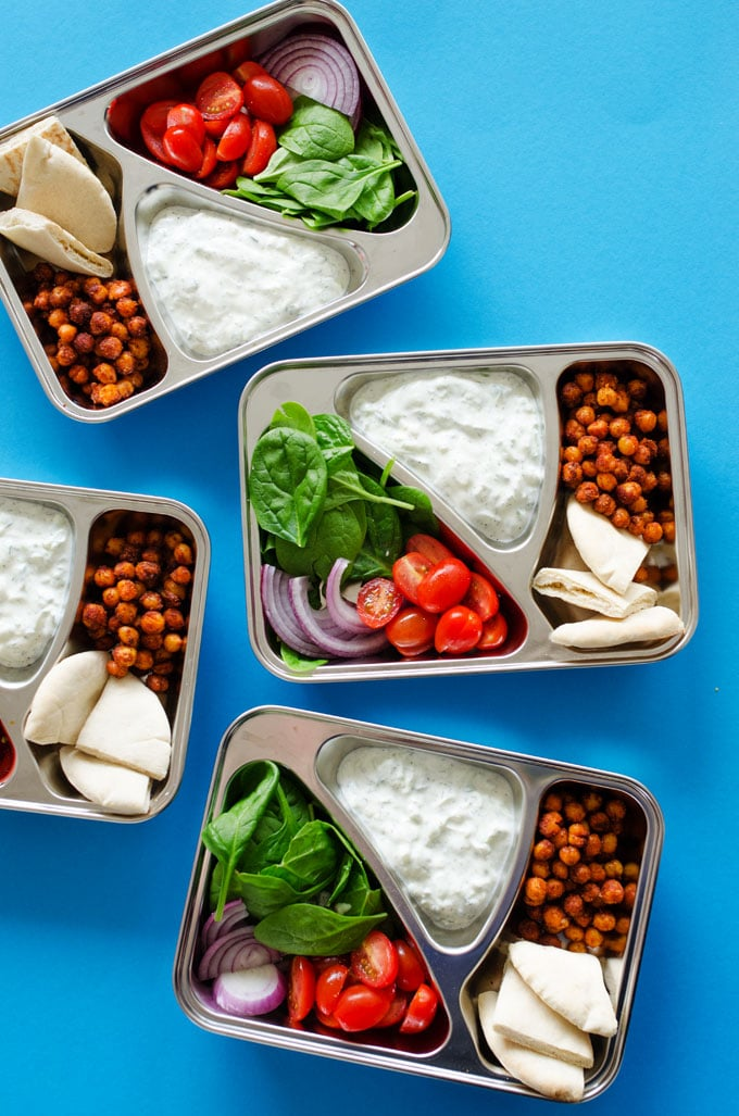 Hedendaags Spiced Chickpea + Tzatziki Meal Prep (Vegetarian, 30 Minutes) AG-48