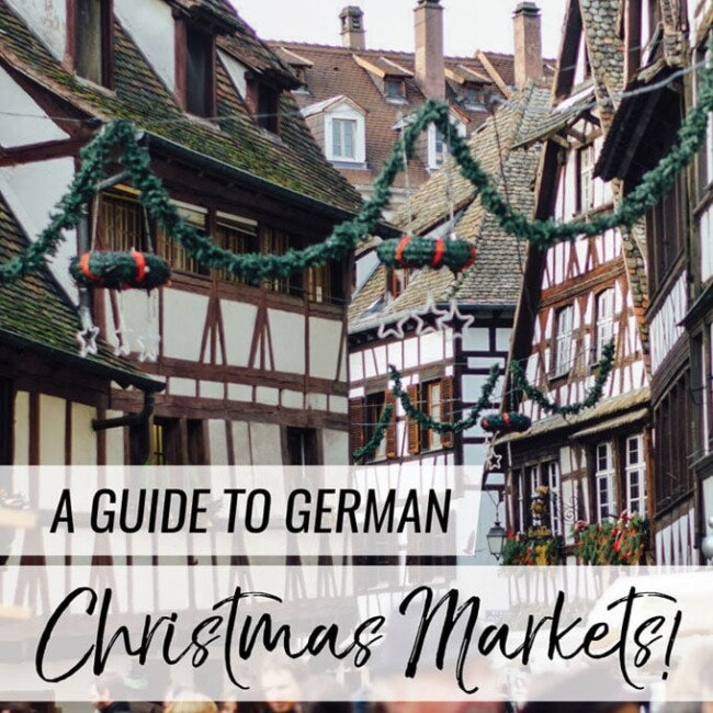"If you like coziness and Christmas time, then you need to put ""go to a German Christmas market"" on your bucket list. Here is your guide to navigating the delicious smells, tastes, and sights that make up German Christmas markets!"