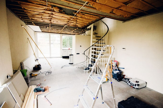 Home Renovation Part 1: Tear Down - Room with no cieling