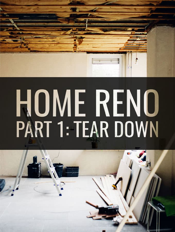 Home Renovation Part 1: Tear Down