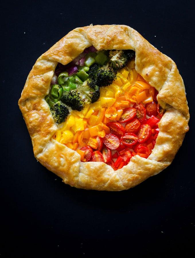 Rainbow Veggie Tart
