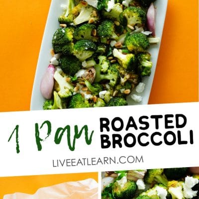 Looking for an easy vegetable side dish that you'll actually look forward to? This roasted broccoli with lemon and goat cheese is so addictive (and only requires 5 minutes of hands-on time!)