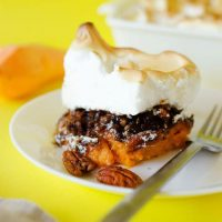 This Sweet Potato Casserole with Pecan Crumble and Meringue is the ultimate Thanksgiving side dish. It's crunchy, creamy, and so addictive.