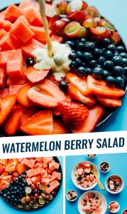 Gather up your summer fruits and toss them together into this simple Watermelon Berry Fruit Salad.