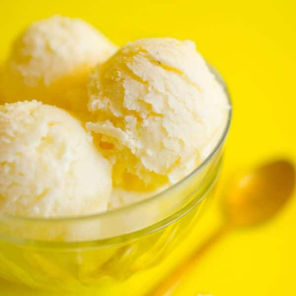 This Kefir Ice Cream is a delicious combination of fermented kefir, lemons, and thyme.