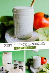 You can make your own Kefir Ranch Dressing at home with just a quick mix of herbs you probably already have in your spice cabinet.