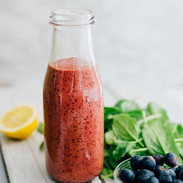 This Balsamic Blueberry Vinaigrette is a simple yet flavorful dressing that transforms your just-another-salad into a colorful masterpiece bursting with antioxidants and deliciousness.