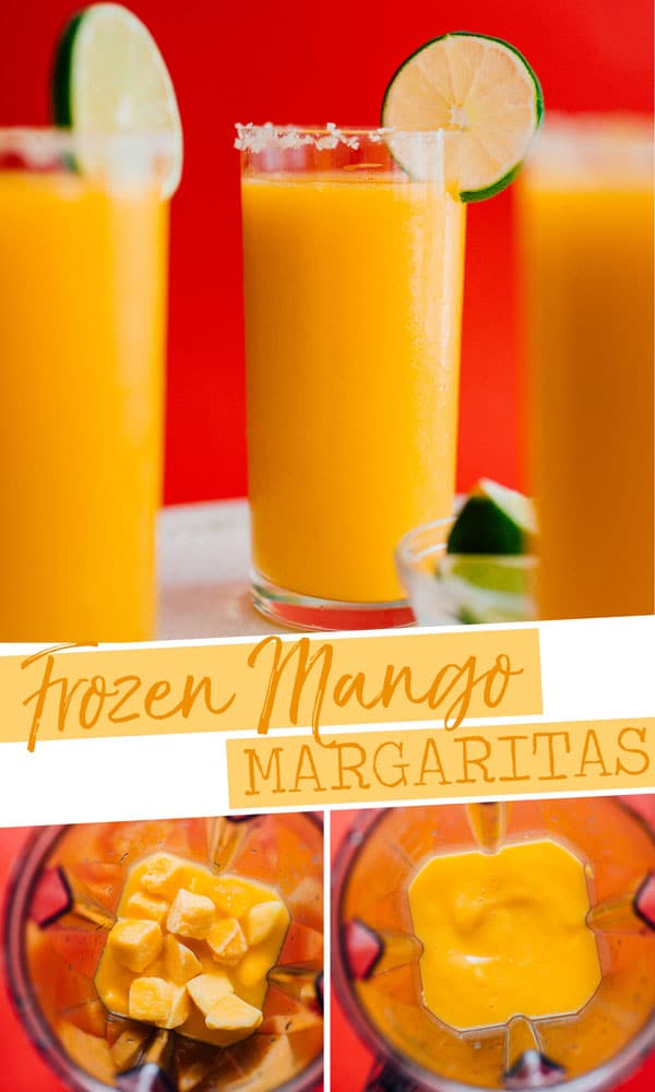 Whether you're in need of a slushy cocktail or are just trying to clean out the freezer, this Frozen Mango Margarita Slush recipe is the refreshing cocktail you need. It's a healthy cocktail idea that is easy to make and perfect for Taco Tuesday or Cinco de Mayo! #cocktails #margaritas #mango #TacoTuesday #CincoDeMayo #healthyrecipes #easyrecipes