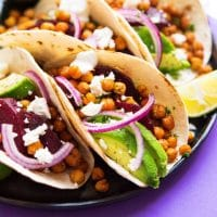 In need of some vegetarian taco inspiration? These Beet and Chickpea Tacos are simple to make and packed with so much flavor