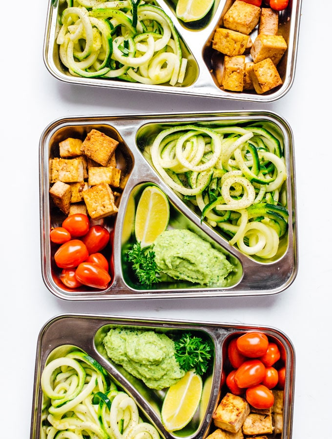 15. Zucchini Noodles Vegetarian Meal Prep