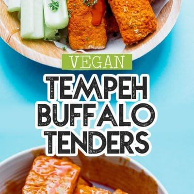 These Buffalo Tempeh Tenders are baked to crispy perfection and slathered in buffalo sauce to make the most addictive vegetarian comfort food!