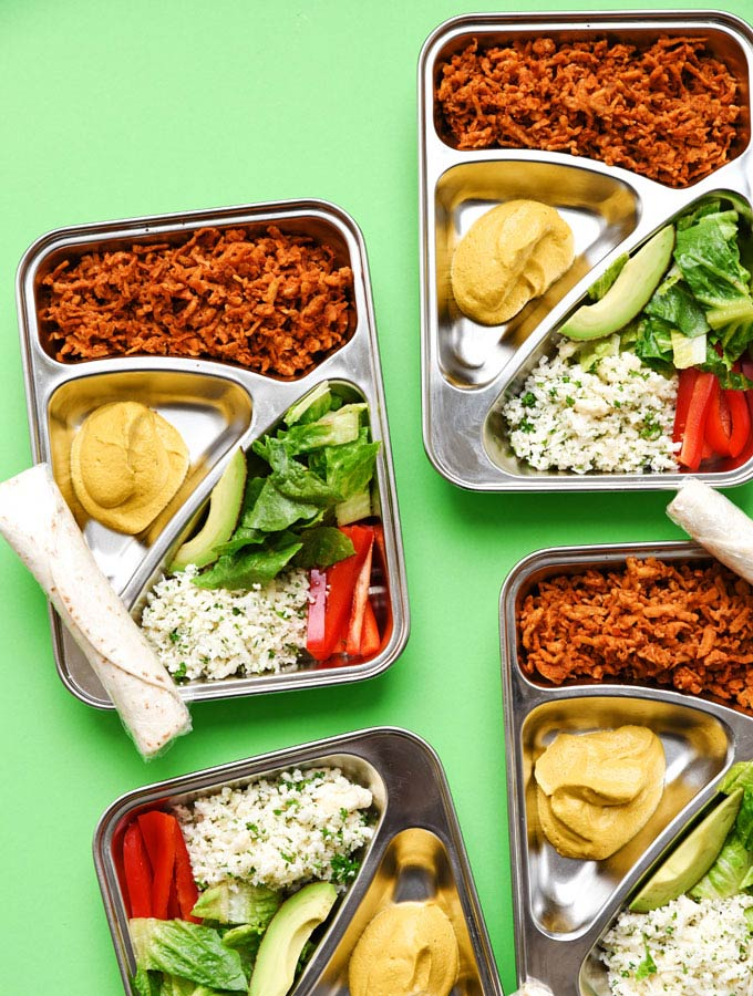 3. Vegan Burrito Bowl Meal Prep