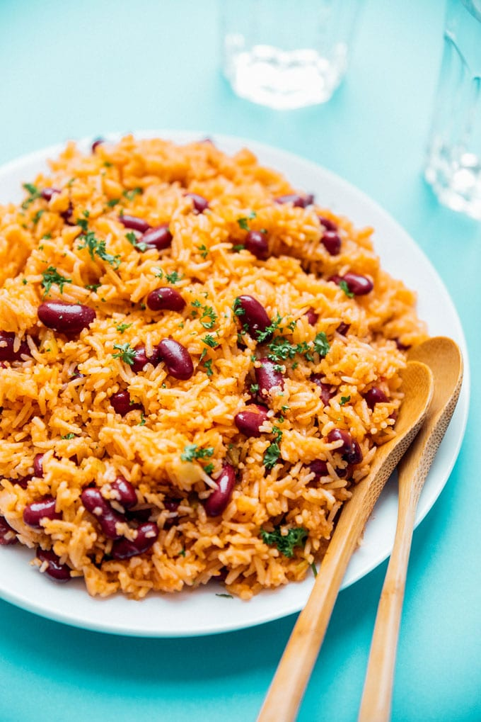 Easy Spanish Rice And Beans Mexican Rice Live Eat Learn