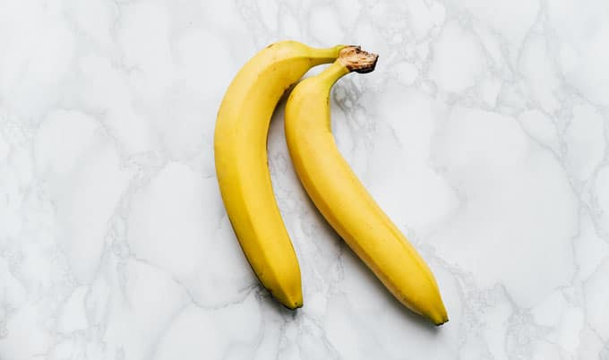Bananas on marble background