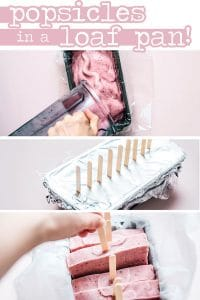 DIY popsicle mold idea with sliceable homemade popsicles in a loaf pan