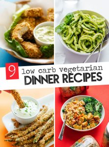 9 of our favorite low carb vegetarian dinner recipes to keep you keto and free from cravings.