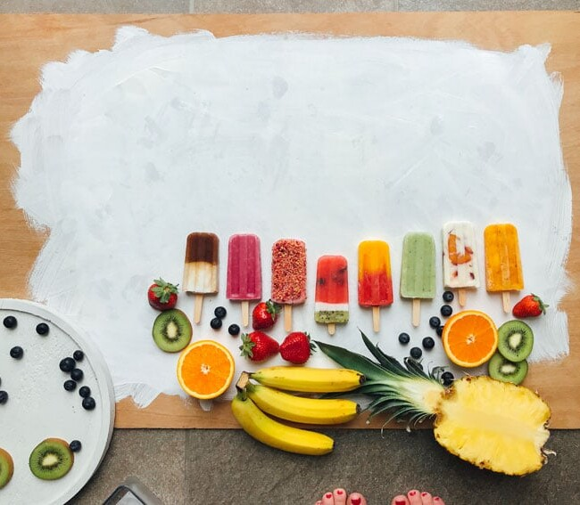 How to photograph popsicles on a white background