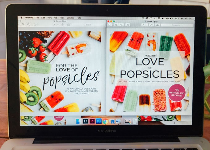 Popsicle cookbook cover options