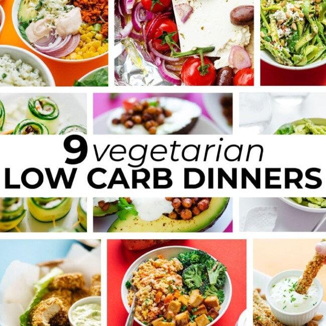 vegetarian low carb dinner recipes