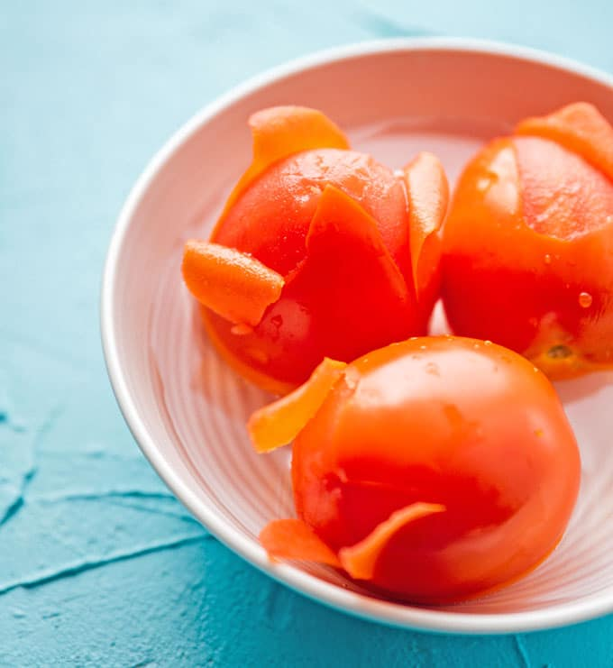 How to peel tomatoes by blanching