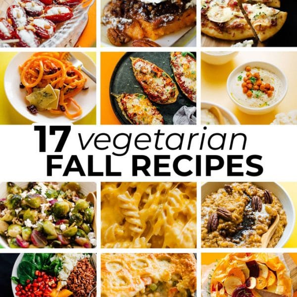 vegetarian fall recipes collage