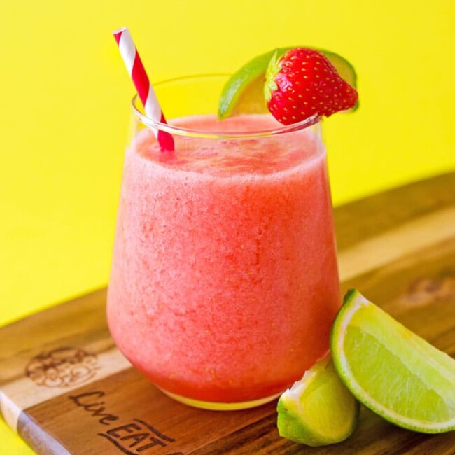 Strawberry limeade in a glass