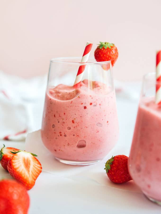 Healthy Strawberry Smoothie Recipe Live Eat Learn