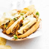 Vegetarian philly cheesesteak