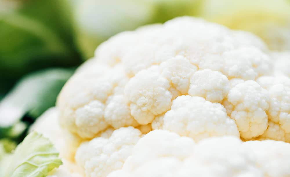Closeup macro photo of cauliflower