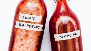 Zingy Raspberry Kombucha