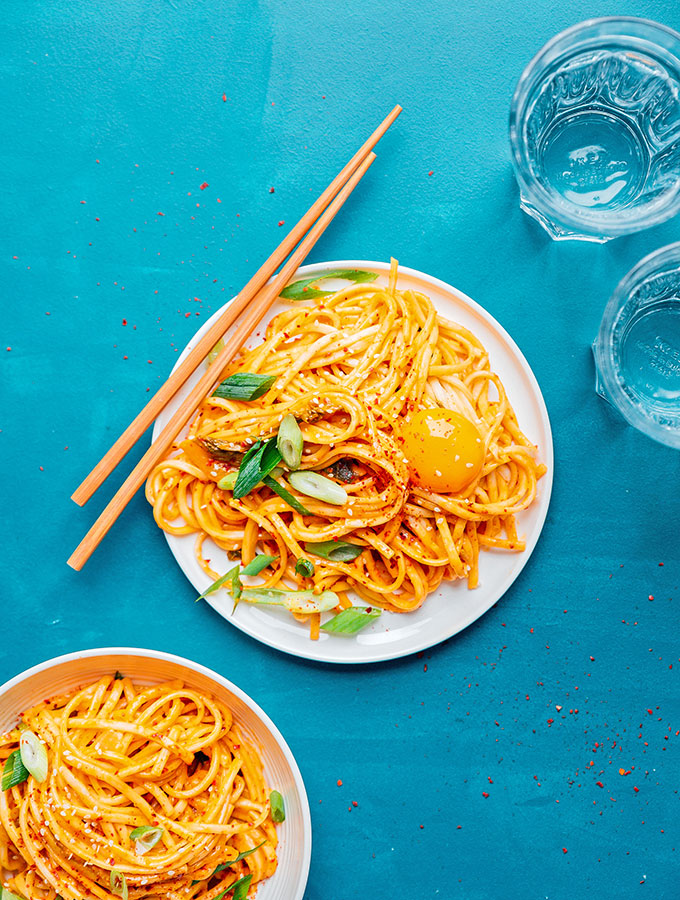 Kimchi Udon Noodles