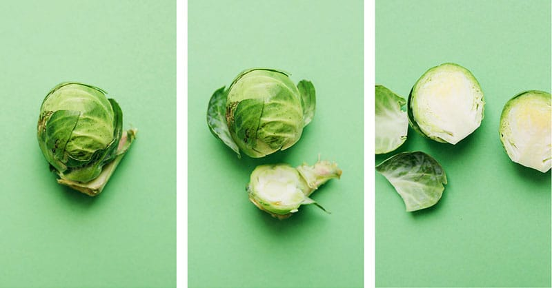 How to trim brussels sprouts